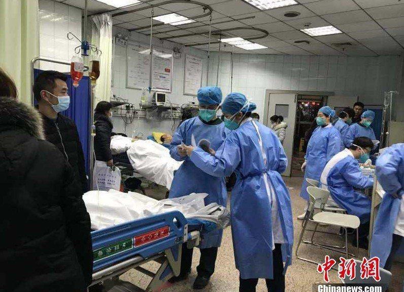 圖為武漢大學人民醫院景象。(中新網)