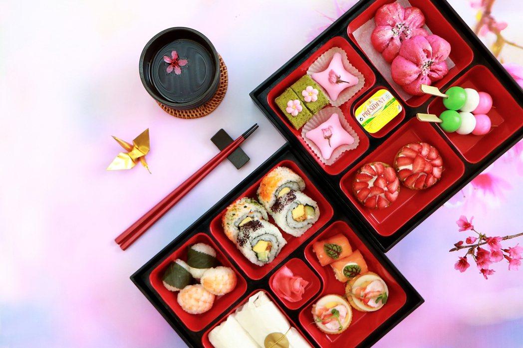 花茶食,以櫻花入饌結合當地時令食材,打造浪漫好滋味。日月潭涵碧樓酒店/提供