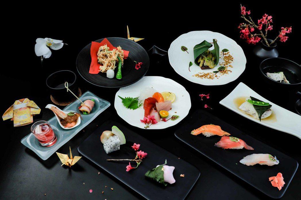 涵碧樓櫻花旬味套餐,以夢幻食材『櫻鯛』為創作靈感。日月潭涵碧樓酒店/提供