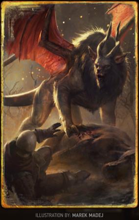 「帝國蠍尾獅」卡牌