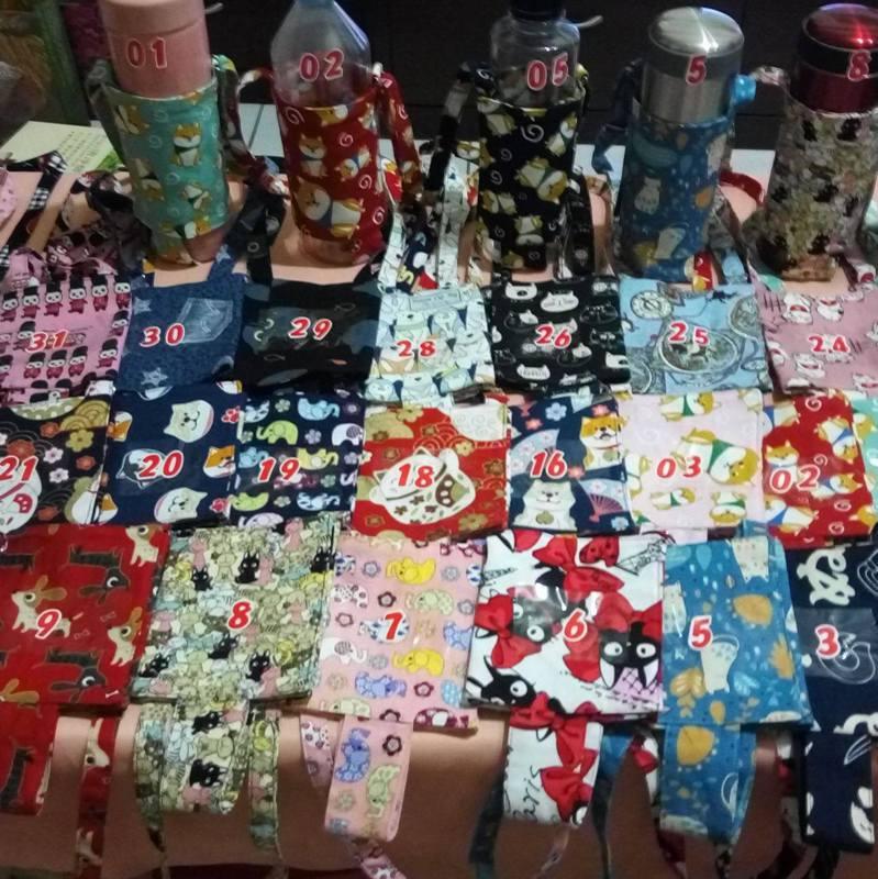 瀚升母親製作環保杯袋維持家中生計。圖/翻攝自瀚升愛心杯袋臉書