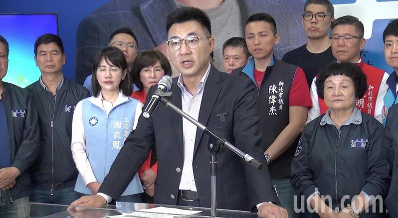 立法委員江啟臣今天宣布參選國民黨主席補選,宣示當選黨主席後將展開黨的改造工作。記者陳宏睿/攝影