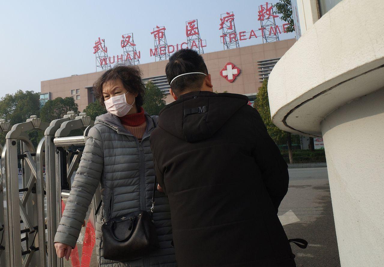 大陸湖北省武漢市爆發「2019年新型冠狀病毒」疫情。法新社
