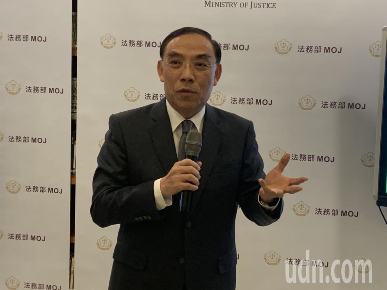 法務部長蔡清祥。本報資料照片