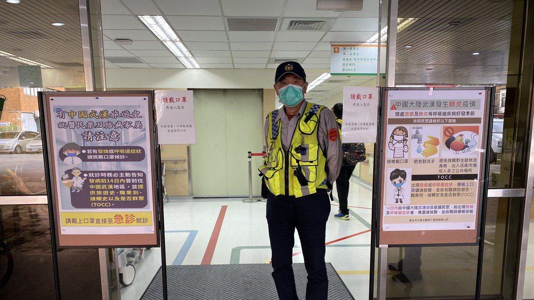因應2019新型新型冠狀病毒疫情,台北市立聯合醫院稍早宣布起進行全院門禁管制,限...