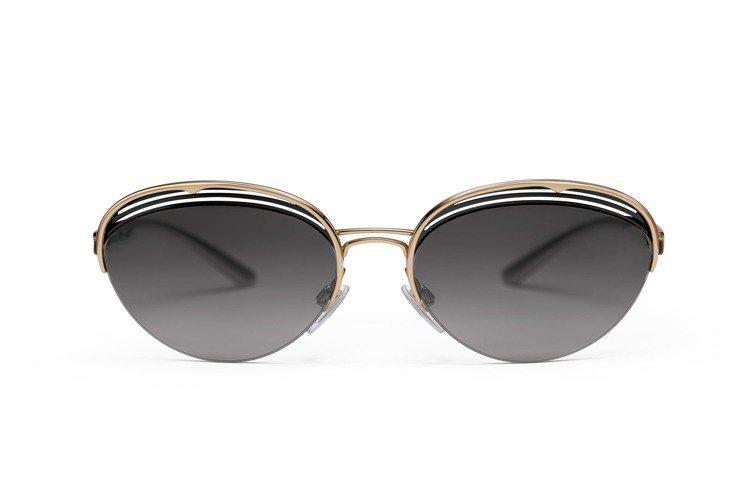 寶格麗B.zero1 B.retrovibe半框稜角橢圓形太陽眼鏡15,500元...
