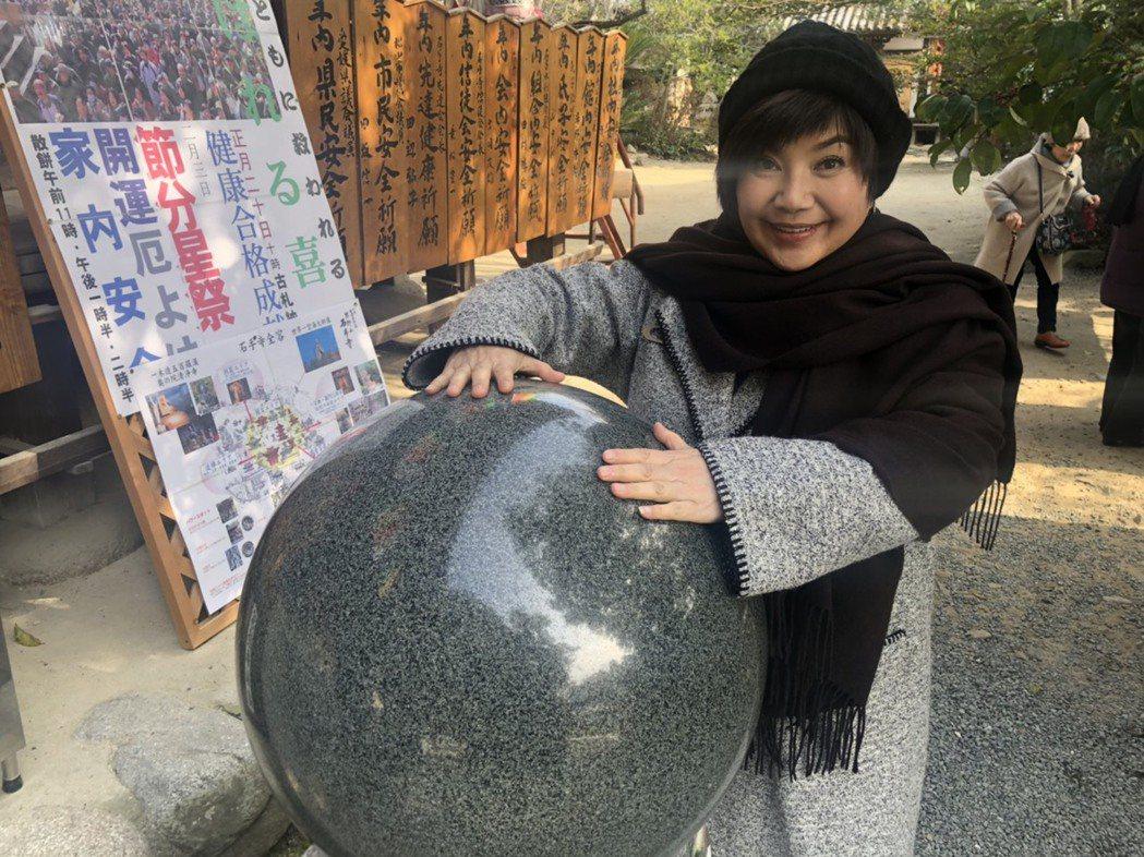 唐美雲受邀赴日本愛媛縣參加「愛媛國際電影節」,宣傳台灣歌仔戲。圖/民視提供
