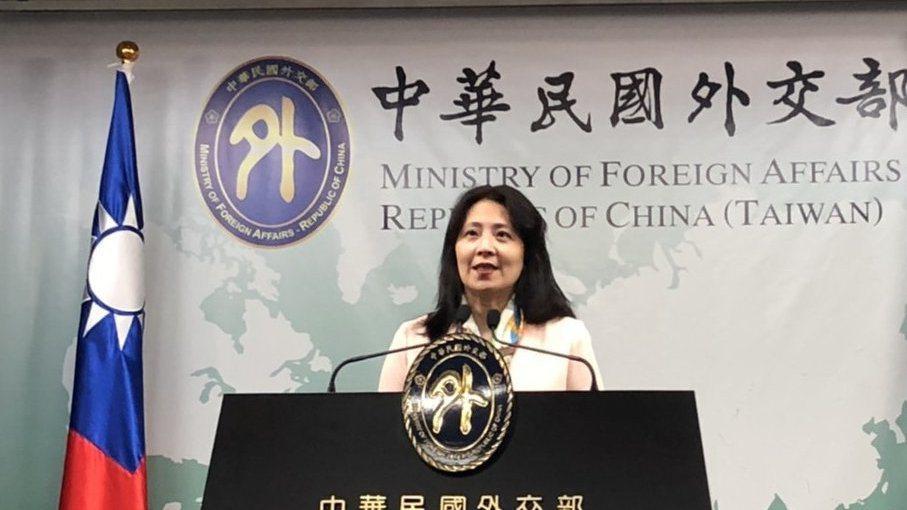 外交部發言人歐江安。 本報資料照片