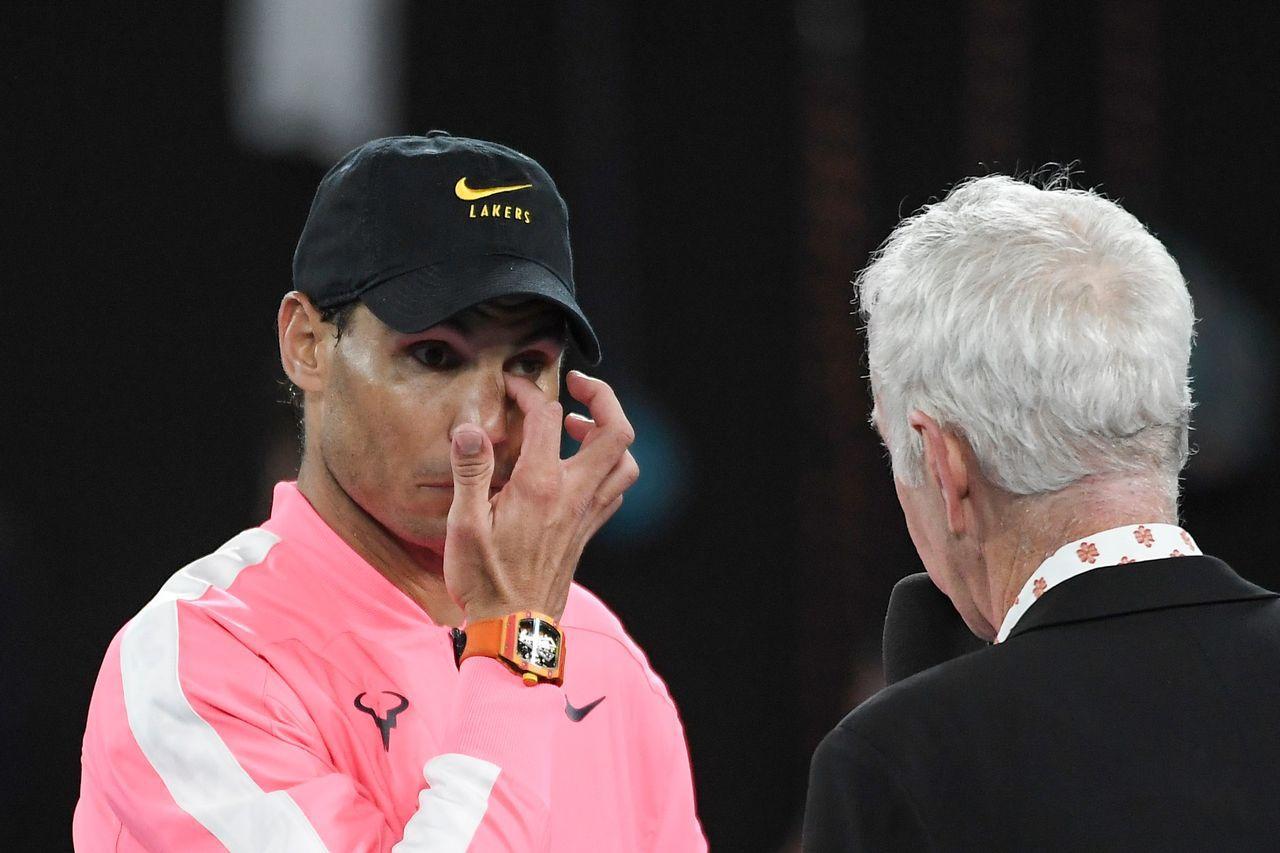 澳網/納達爾闖8強 戴黑帽悼Kobe