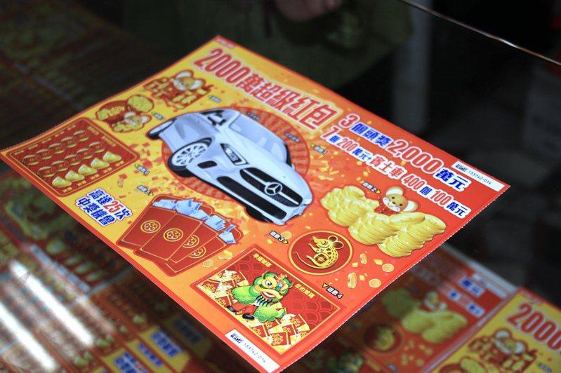 台北市士林一名50多歲男性,連買6張2000元刮刮樂都中獎。