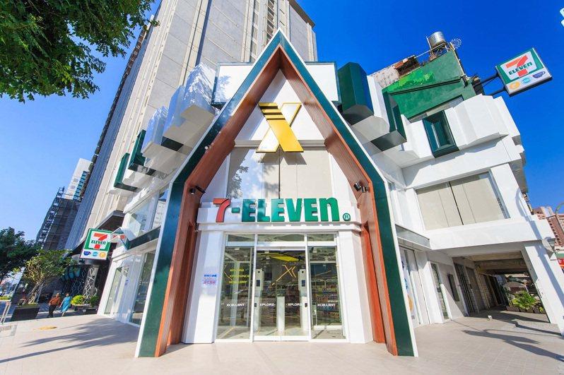 高雄7-ELEVEN「X-STORE 3星海灣門市」不僅首創智能+複合經營,外型也相當吸睛。圖/7-ELEVEN提供