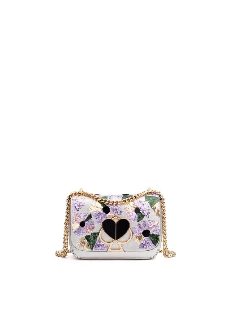 kate spade Nicola彩色花卉手袋,售價17,100元。圖/kate...