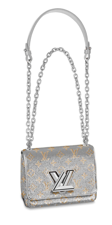 路易威登金銀色亮片Twist手袋,售價15萬5,000元。圖/LV提供