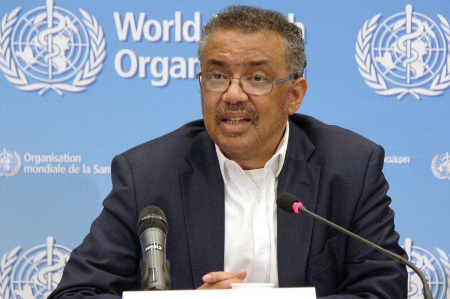 世界衛生組織(WHO)秘書長譚德塞表示,當前形勢不主張撤僑,不必過度反應。圖/新華社