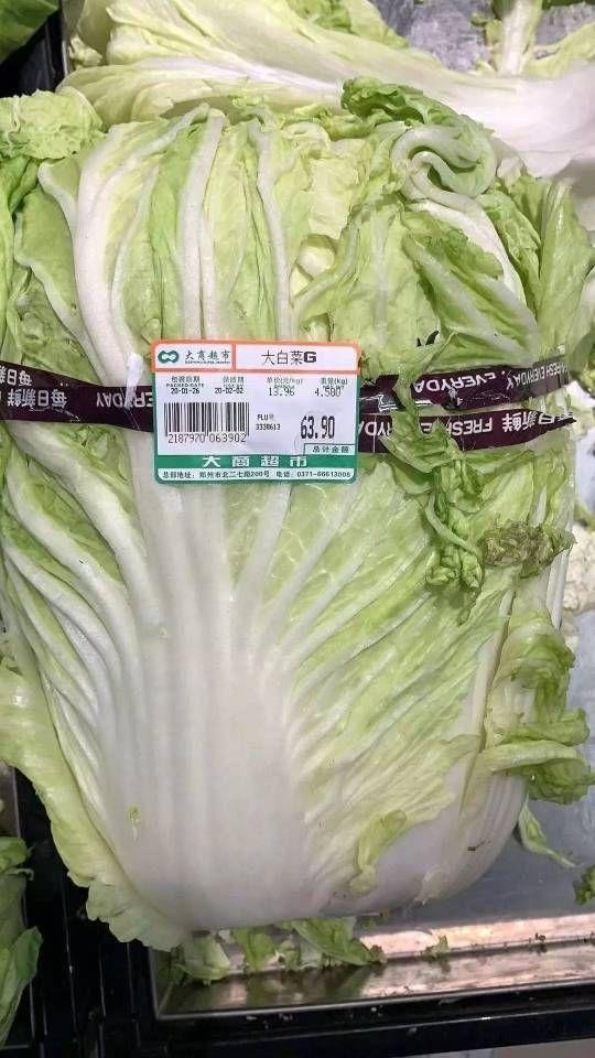 武漢肺炎疫情緊張期間,河南鄭州傳出一顆白菜要價台幣281元的「天價」。 圖/擷自影片