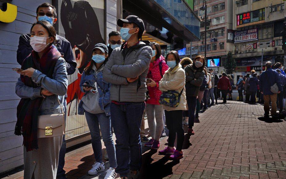 憂慮武漢肺炎擴散,香港各方要求政府關閉出入境口岸的聲音愈來愈大。 美聯社