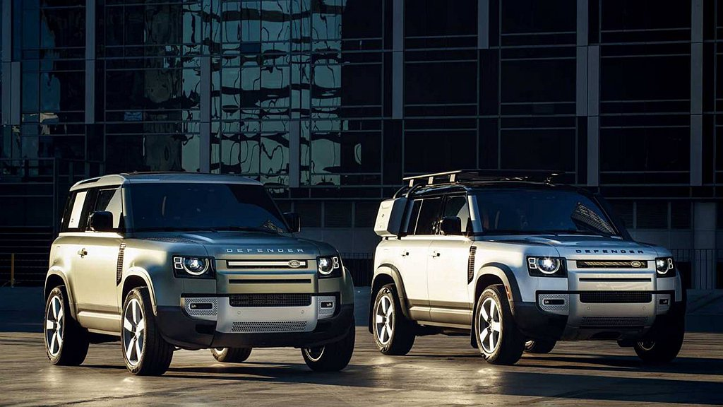 新世代Land Rover Defender具備90短軸、110長軸兩種車型可選...