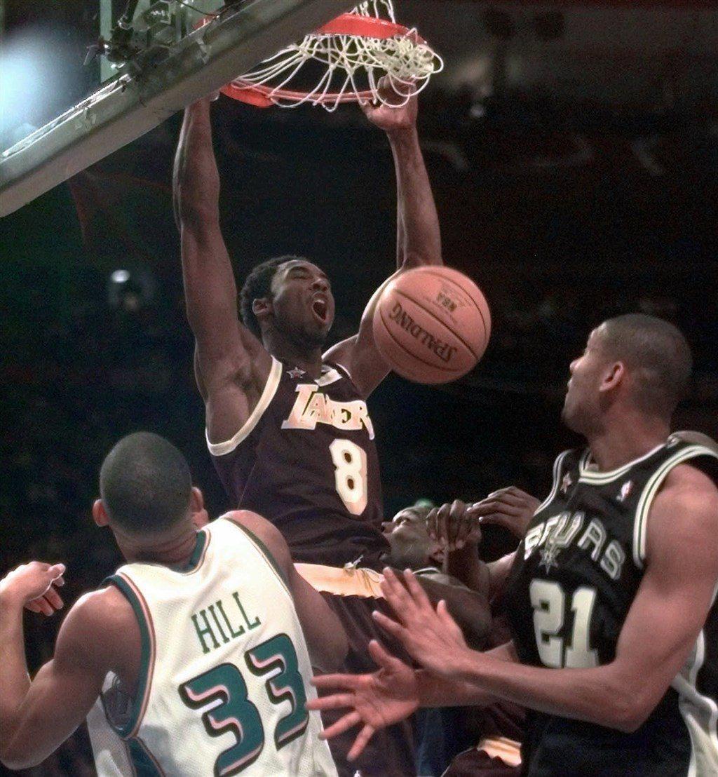 1998年Kobe首度於NBA全明星賽亮相。 圖/美聯社