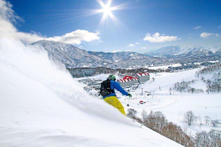 白馬滑雪場位於長野縣,為以細緻粉雪與豐厚積雪聞名。圖/JR東日本提供