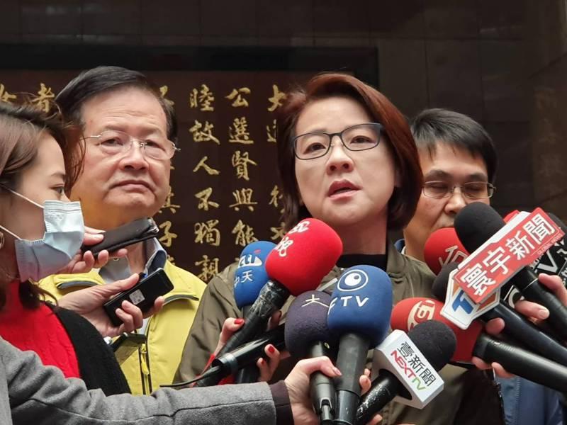 針對武漢肺炎疫情 ,台北市副市長黃珊珊上午受訪。記者楊正海/攝影