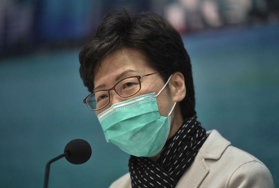 香港特首林鄭月娥公布多項防疫措施。 (中新社)