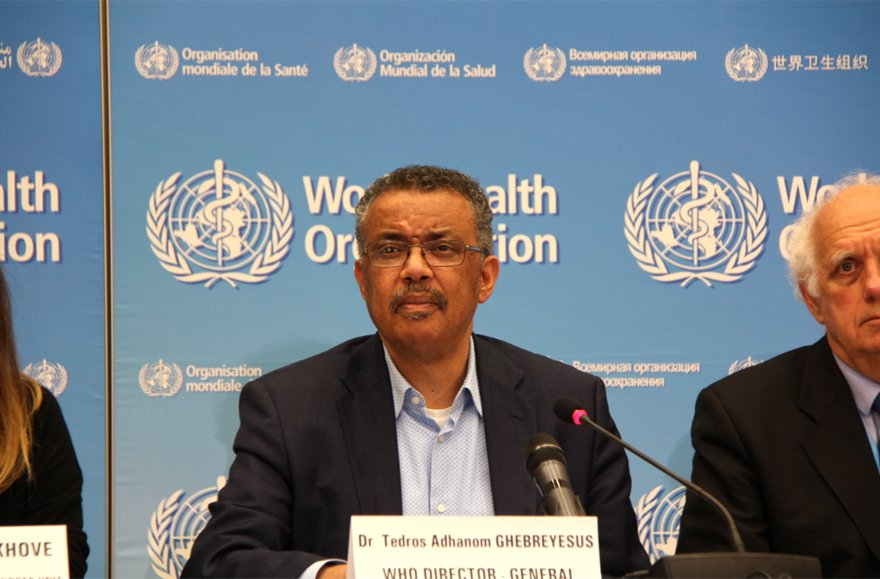 世界衛生組織在世衛秘書長譚德塞。 新華社