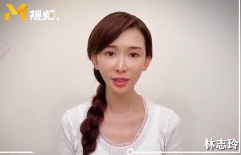 林志玲素顏為醫護人員加油打氣。 圖/擷自微博