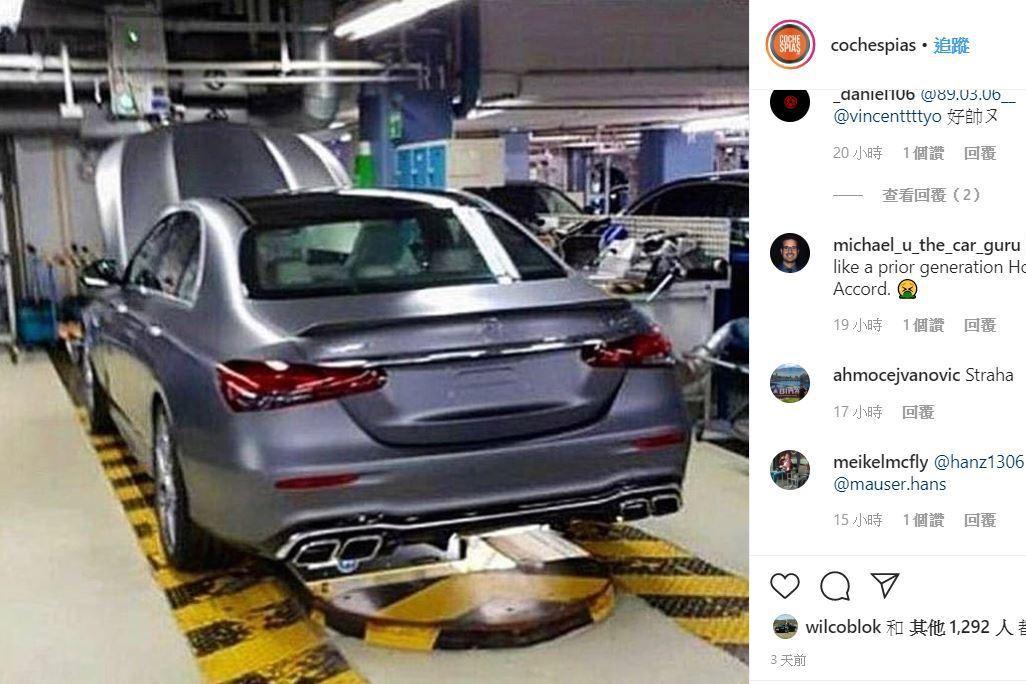 現在風靡工廠流出?賓士AMG E63小改款車尾完整露出!