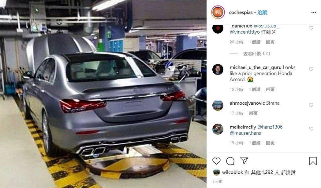 網友流出的E63應該是在德國辛德芬根工廠拍攝。 摘自IG:cochespias