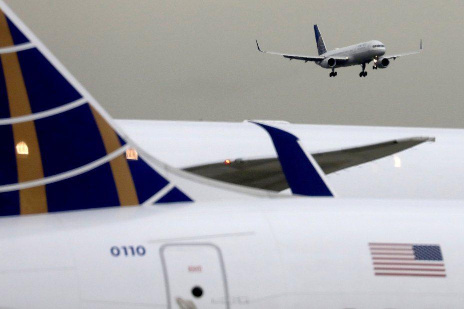 聯合航空客機檔案照。路透