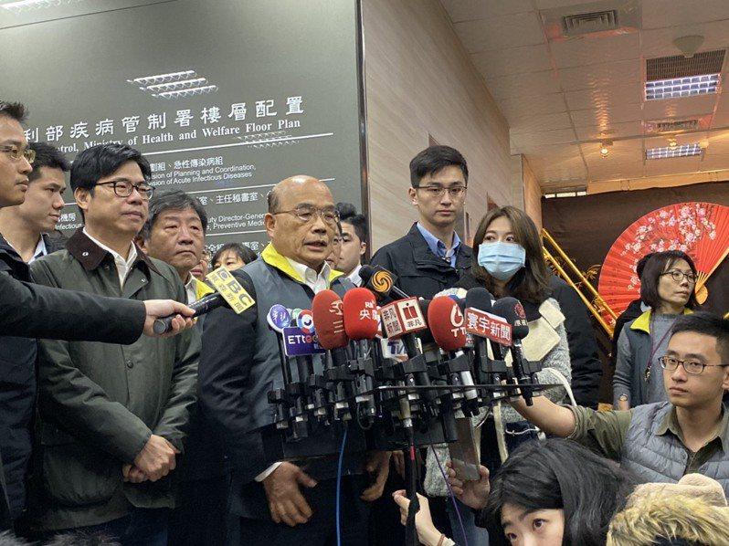 藝人范瑋琪日前在私人臉書罵蘇貞昌是狗官,被爆出來後在粉絲團上發文道歉。行政院長蘇貞昌今受訪時表示,她已經認錯道歉,不必一般見識。記者簡浩正/攝影