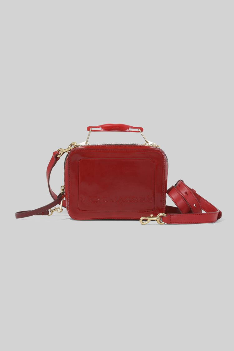 熱情烈焰紅The Box包(23cm),18,900元。圖/Marc Jacob...