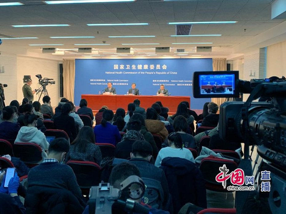 大陸國家衛生健康委員會29日公布,武漢肺炎勢必將衝破6000大關。 圖/中國網直播