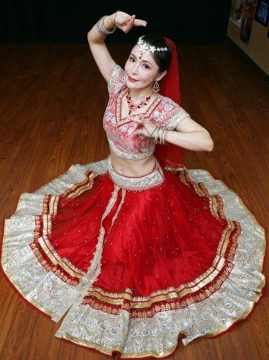 德馨活力來源靠大跳印度舞。記者侯永全/攝影