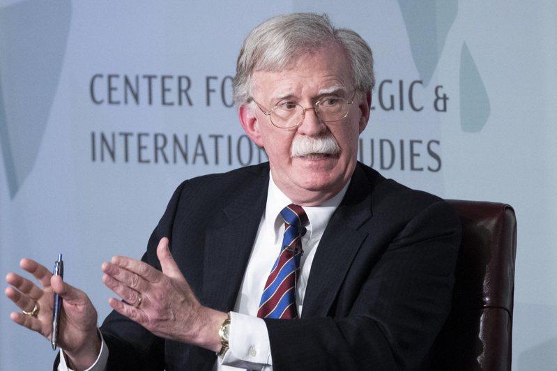 圖為美國白宮前國家安全顧問波頓(John Bolton)。 歐新社