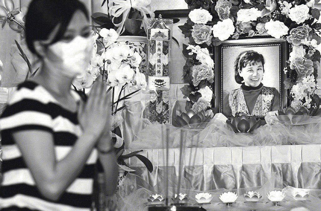 護理長陳靜秋在5月1日染SARS過世,成為第一位因公殉職的醫護人員。記者/潘俊宏