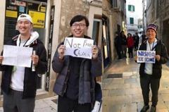 台人遊東歐被誤為陸客 掛牌「非中國人」爆紅登當地媒體