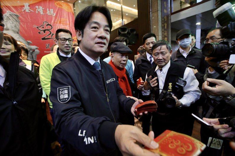 副總統當選人賴清德表示,武漢疫情會衝擊經濟表現,不論是中國或國際市場均將受影響,但相信總統蔡英文以及專業財經團隊會帶領台灣走過衝擊。聯合報記者許正宏/攝影