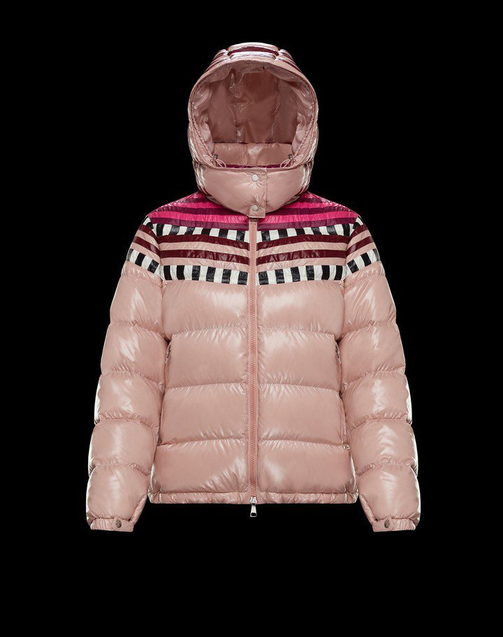 MONCLER Pierpaolo Piccioli系列Evelyn粉色羽絨外套...
