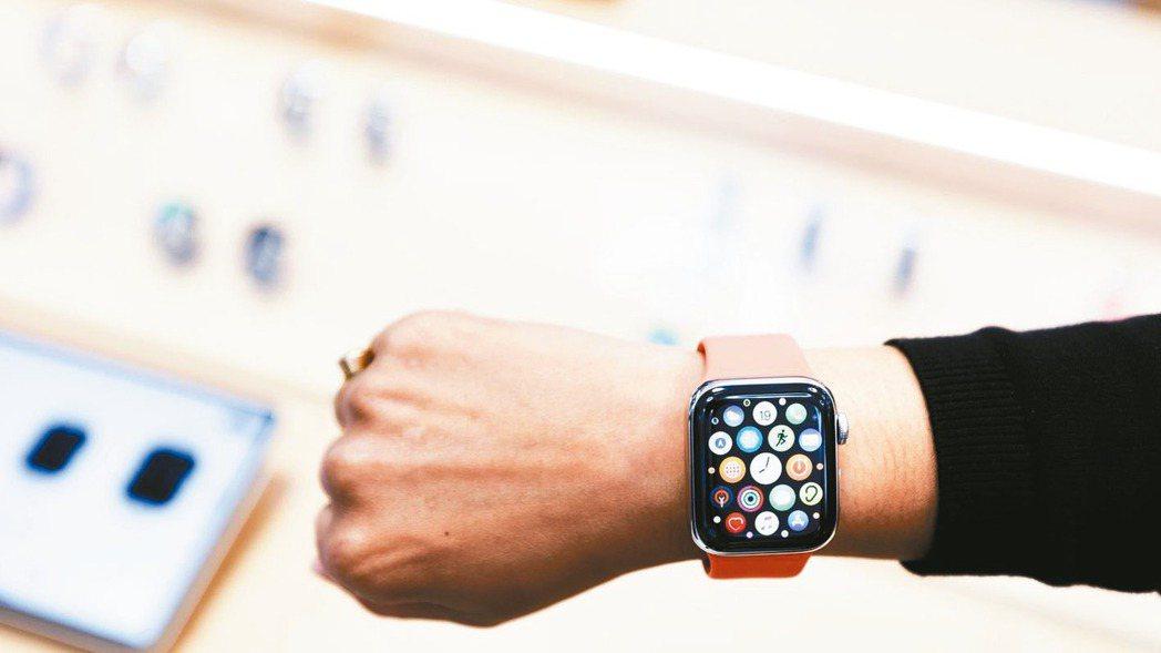 圖為蘋果Series 5 Apple Watch。 歐新社
