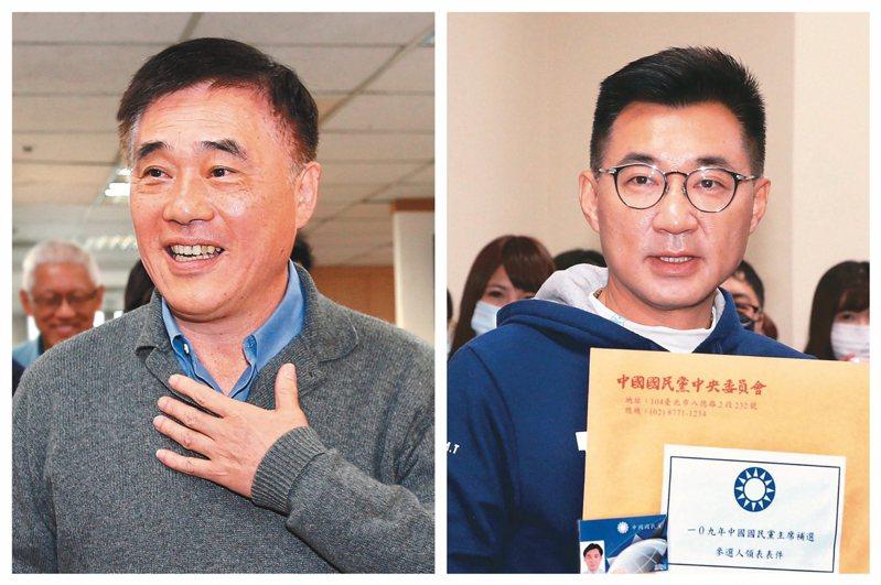 國民黨主席補選,前副主席郝龍斌(左)與立委江啟臣(右)對決態勢日益明朗。 圖/聯合報系資料照片
