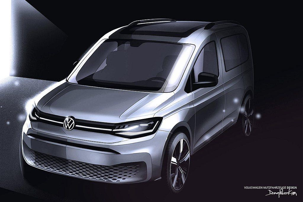 德國福斯商旅再度釋出大改款Caddy相關訊息。 圖/Volkswagen提供