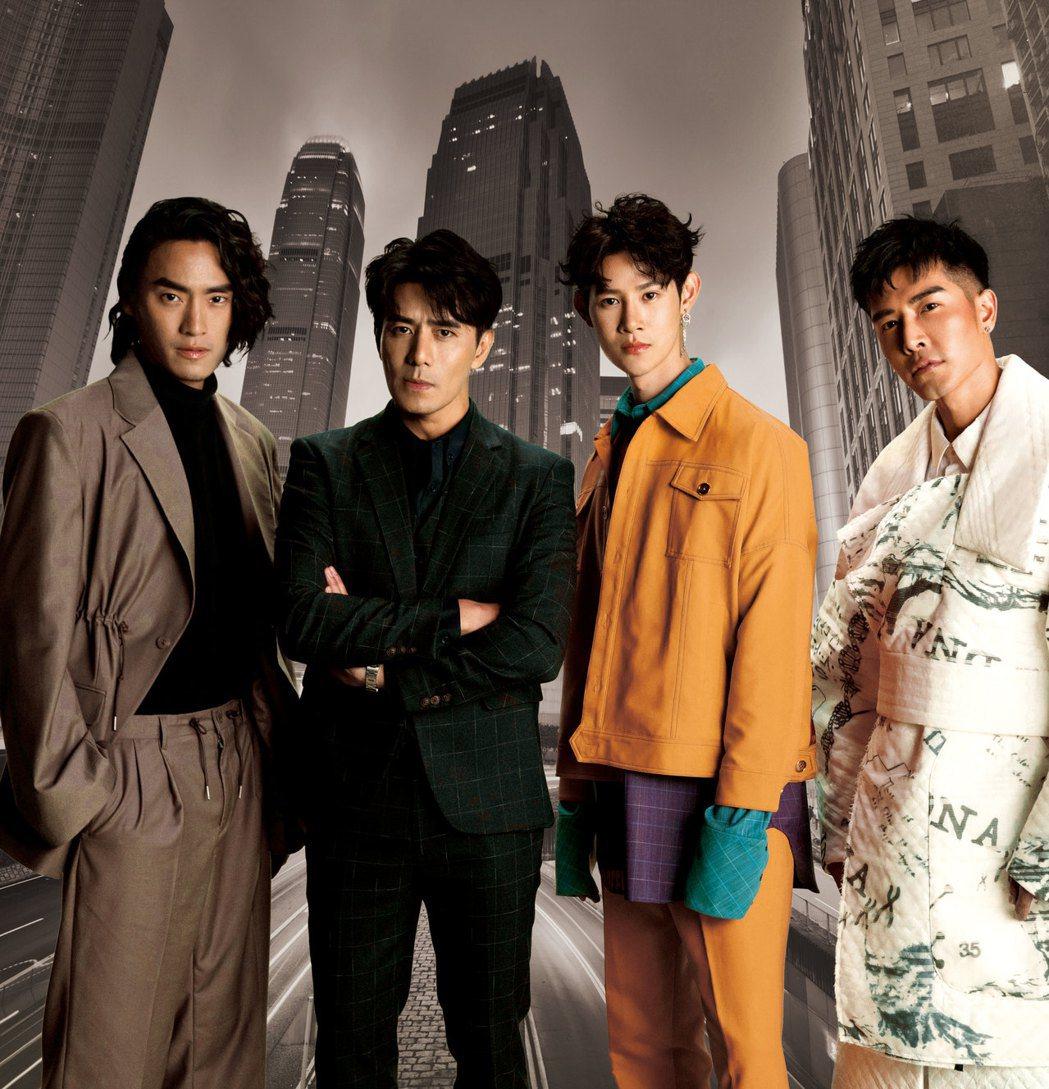 郭彥均、夏和熙、森田、Vic同框比帥。圖/CHECK2CHECK提供