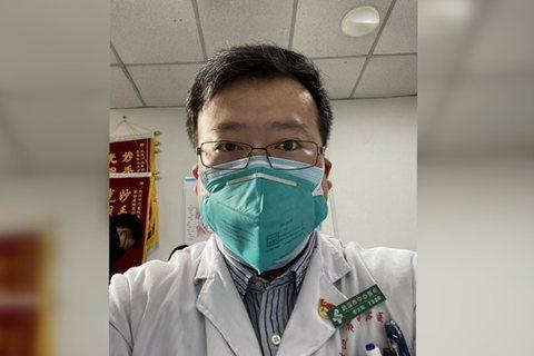 大陸這次武漢肺炎疫情第一批「吹哨者」之一的武漢市中心醫院眼科醫生李文亮。(取自《...