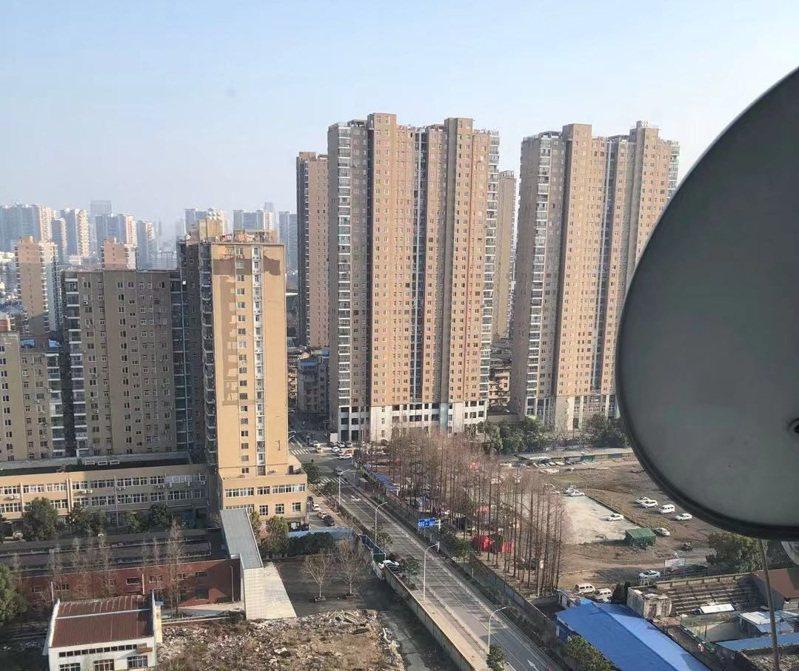 封城後的武漢市區街道。圖/讀者提供
