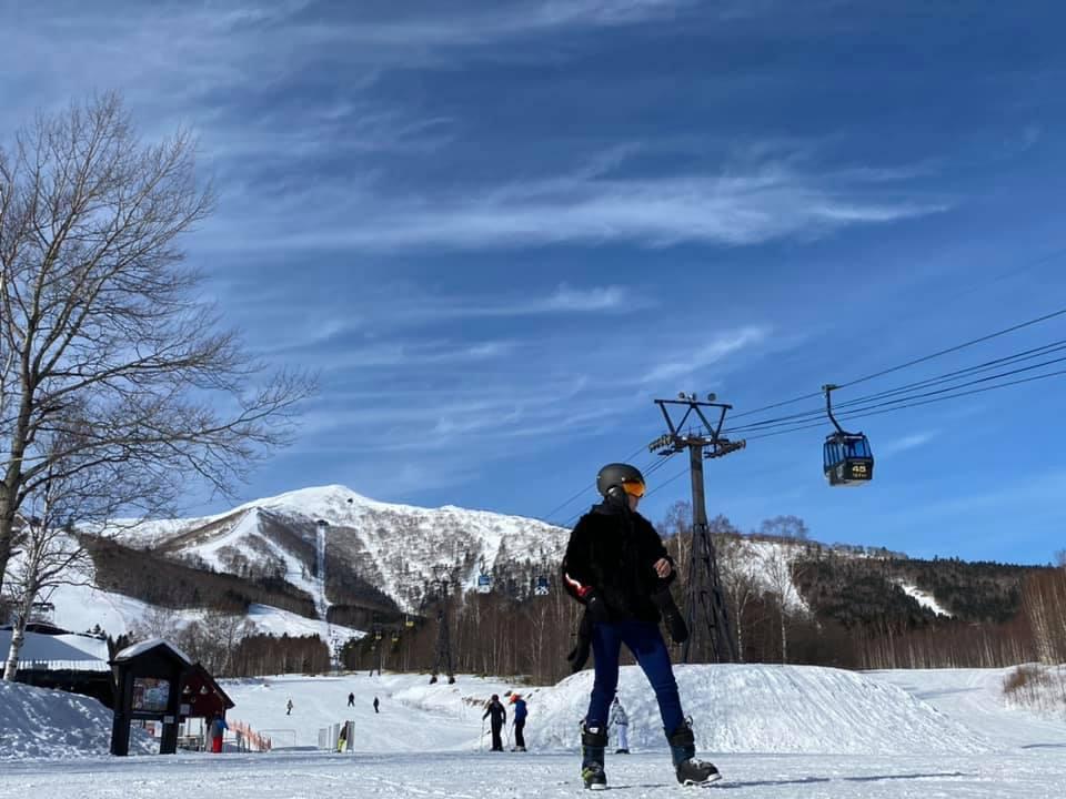 小禎常到日本滑雪。圖/小禎提供