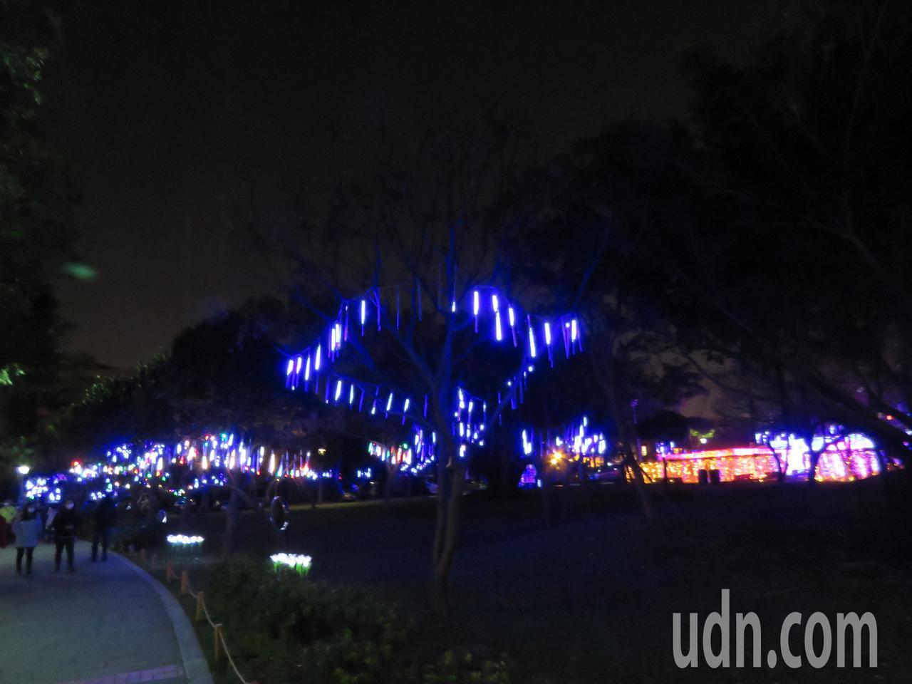 2020桃園燈會平鎮新勢公園燈海。記者張弘昌/攝影