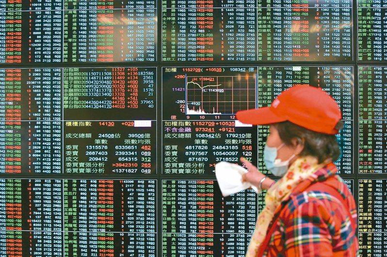 台北股市在歷經紅盤日的重挫後,昨天止跌回升。 記者林澔一/攝影