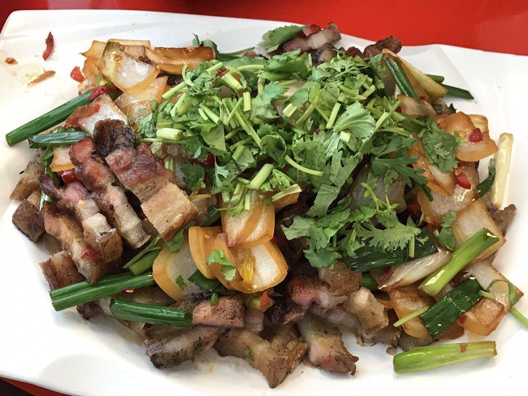 部落美食料理山豬肉。圖/聯合報系資料照片