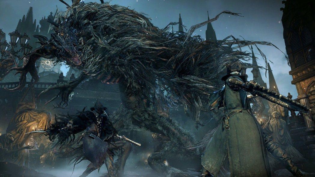 《血源詛咒》在陰暗的哥德風格世界進行凌厲戰鬥。圖片來源:From Softwar...